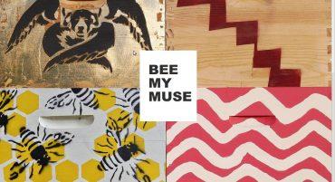 BEE MY MUSE L'art et l'abeille / Peinture sur ruche