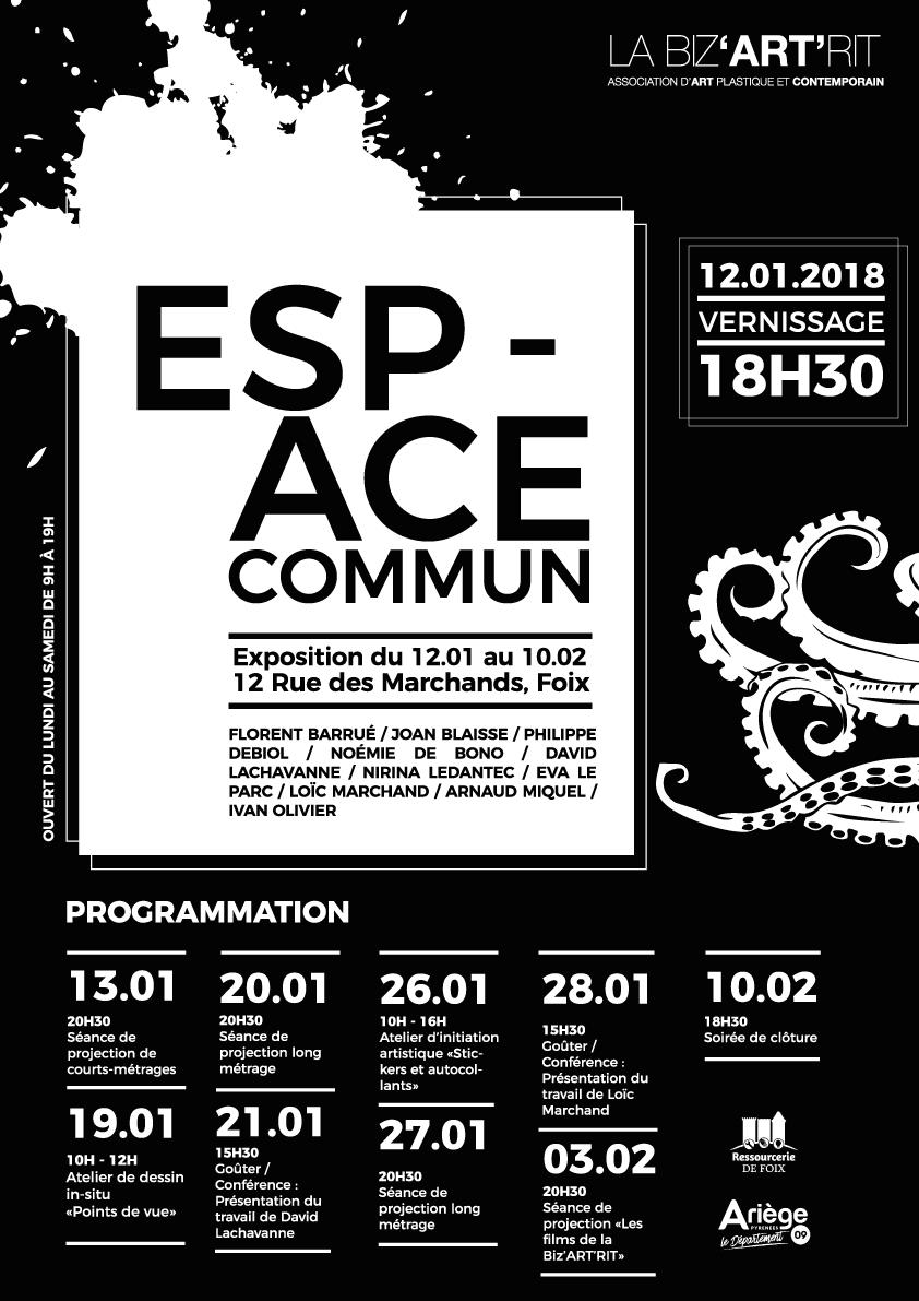 affiche et programme espace commun