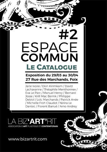 Le Catalogue de l'exposition «Espace Commun #2».