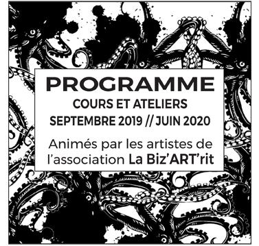 Programme «Cours et Ateliers»  Septembre 2019 // Juin 2020