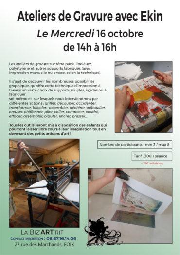 Ateliers de Gravure avec Ekin
